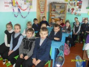 16.12.2016 г. в начальный классах был проведен Урок Доброты, на котором ребята просмотрели и обсудили с учителем учебный видеофильм.